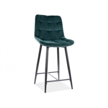 thumb Полубарный стул CHIC H-2 VELVET черный каркас / зеленый BLUVEL 78 1