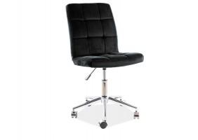 Кресло поворотное Q-020 VELVET черный Черный