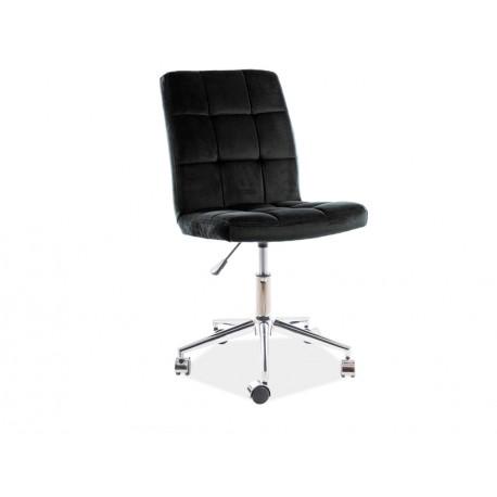 thumb Кресло поворотное Q-020 VELVET черный Черный 1