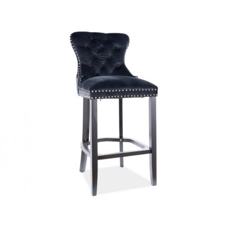 thumb Барный стул AUGUST H-1 VELVET черный каркас / черный Черный 1