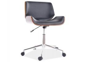 Кресло поворотное JUKON черная Экокожа