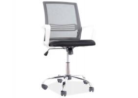 Кресло поворотное Q-844 черный / белый каркас