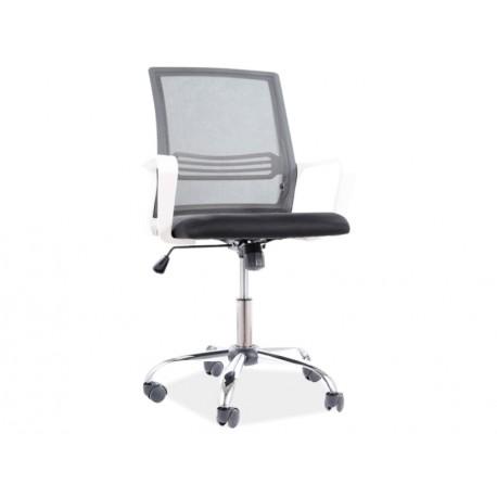 thumb Кресло поворотное Q-844 черный / белый каркас 1