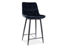Полубарный стул CHIC H-2 VELVET черный каркас / черный Черный