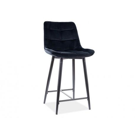 thumb Полубарный стул CHIC H-2 VELVET черный каркас / черный Черный 1
