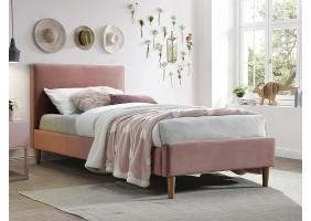 Односпальная кровать ACOMA VELVET 90X200 античная роза / дуб BLUVEL 52