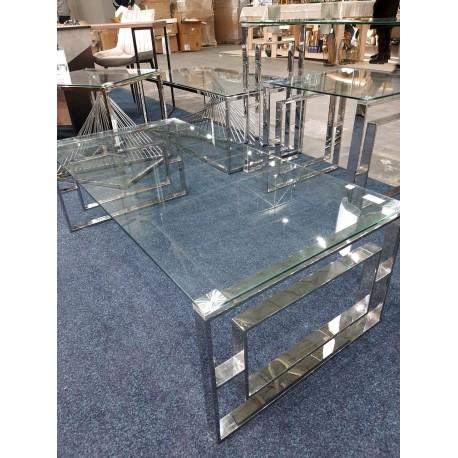 thumb Журнальный столик ALLURE A прозрачный / серебряный 120X60 2