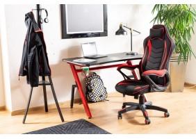 Компьютерный стол B-006 красный / черный