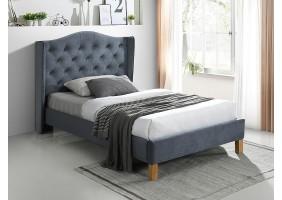 Односпальная кровать ASPEN VELVET 120x200 цвет серый / дуб BLUVEL 14