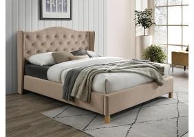 Двуспальная кровать ASPEN VELVET 160x200 цвет беж / дуб BLUVEL 28