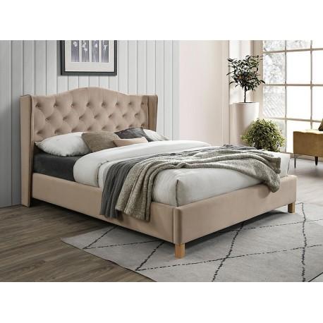 thumb Двуспальная кровать ASPEN VELVET 160x200 цвет беж / дуб BLUVEL 28 1