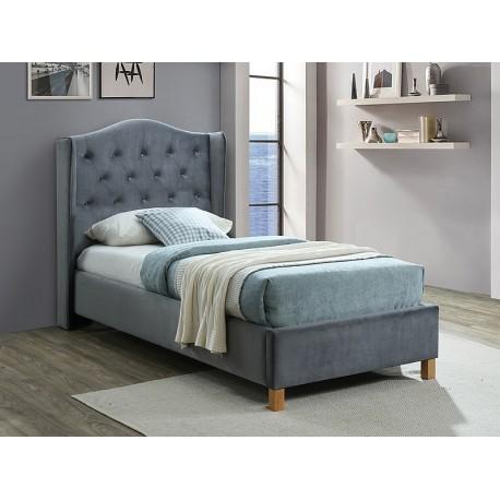 thumb Односпальная кровать ASPEN VELVET 90x200 цвет серый / дуб BLUVEL 14 1