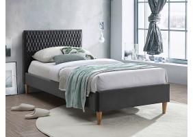 Односпальная кровать AZURRO VELVET 90X200 цвет серый / дуб BLUVEL 14