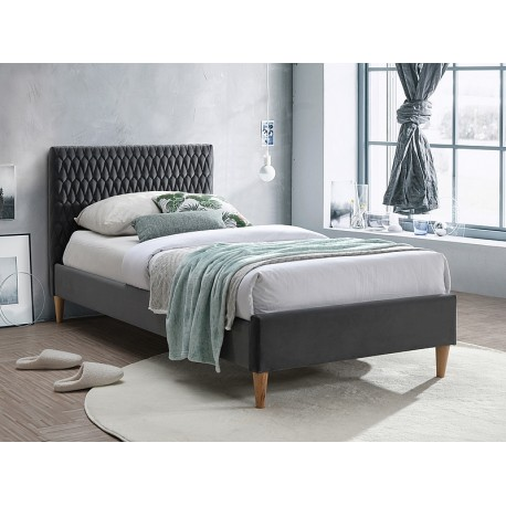 thumb Односпальная кровать AZURRO VELVET 90X200 цвет серый / дуб BLUVEL 14 1