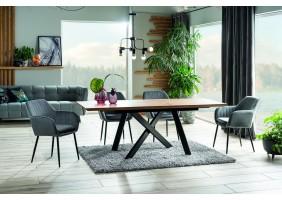 Стол CAPITOL дуб / черный каркас 160 (200) X90