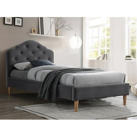 thumb Односпальная кровать CHLOE VELVET 90X200 серый / дуб BLUVEL 14 1