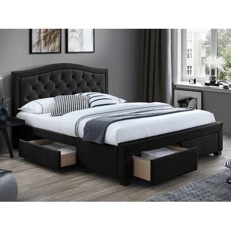thumb Двуспальная кровать ELECTRA VELVET 160X200 цвет черный / дуб TAP.186 1
