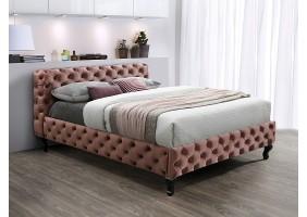 Двуспальная кровать HERRERA VELVET 160X200 античная роза / венге BLUVEL 52