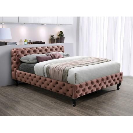 thumb Двуспальная кровать HERRERA VELVET 160X200 античная роза / венге BLUVEL 52 1