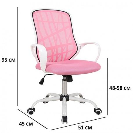 thumb Кресло поворотное DEXTER розовый / белый 2
