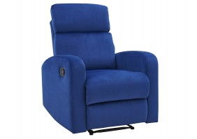Кресло раскладное MARS VELVET синий BLUVEL 86