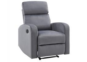 Кресло раскладное MARS VELVET серый BLUVEL 14