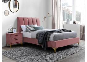 Односпальная кровать MIRAGE VELVET 90X200 цвет античная роза / золото TAP. 185