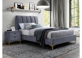 Односпальная кровать MIRAGE VELVET 90X200 цвет серый / золото TAP. 142