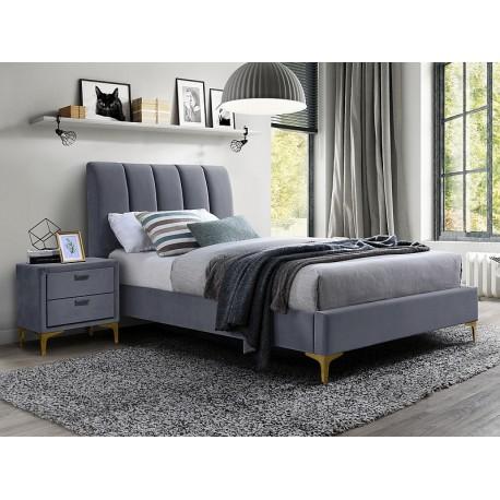 thumb Односпальная кровать MIRAGE VELVET 90X200 цвет серый / золото TAP. 142 1