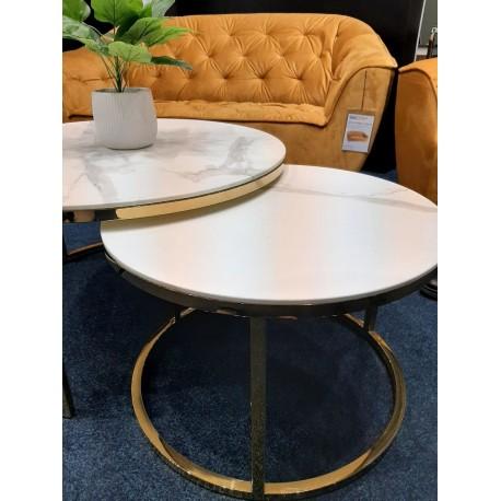 thumb Журнальный столик MUSE белый эффект мрамора / золото (Комплект) 4