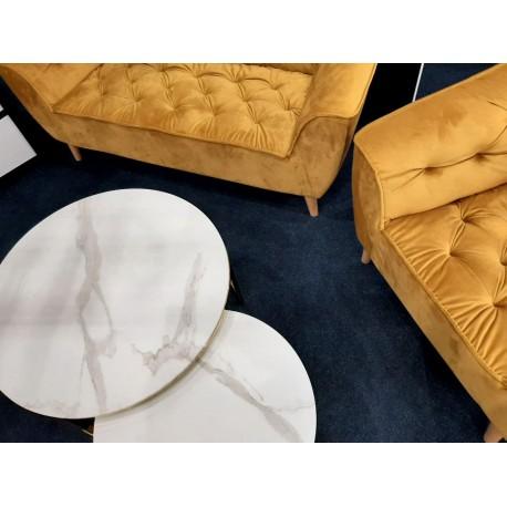 thumb Журнальный столик MUSE белый эффект мрамора / золото (Комплект) 6