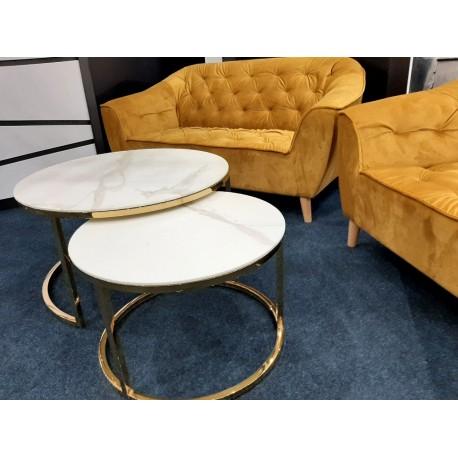 thumb Журнальный столик MUSE белый эффект мрамора / золото (Комплект) 5