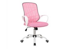 Кресло поворотное DEXTER розовый / белый