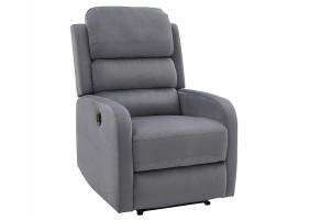 Кресло раскладное PEGAZ VELVET серый BLUVEL 14