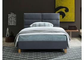 Односпальная кровать SIERRA VELVET 120x200 цвет серый / дуб TAP.150