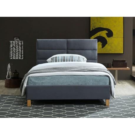 thumb Односпальная кровать SIERRA VELVET 120x200 цвет серый / дуб TAP.150 1