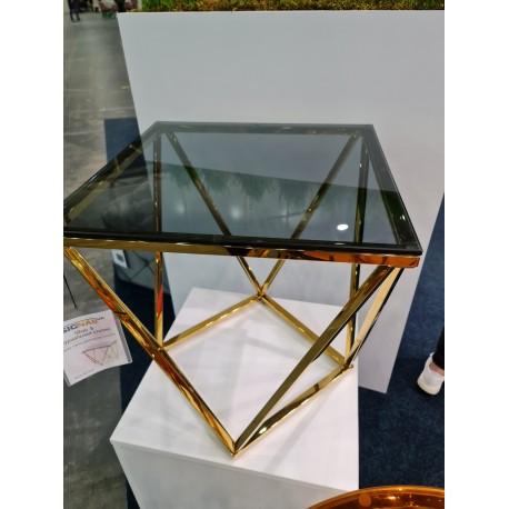 thumb Журнальный столик SILVER B стекло димчасте / золото 50X50 2