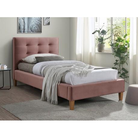 thumb Односпальная кровать TEXAS VELVET 90X200 цвет античная роза / дуб BLUVEL 52 1