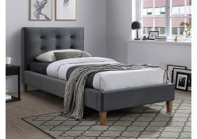 Односпальная кровать TEXAS VELVET 90X200 цвет серый / дуб BLUVEL 14