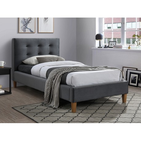 thumb Односпальная кровать TEXAS VELVET 90X200 цвет серый / дуб BLUVEL 14 1