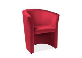 Кресло TM-1 VELVET бордо BLUVEL 59 / венге