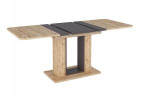 Стол TWINS дуб Вотан / коричневый 140 (180) X80