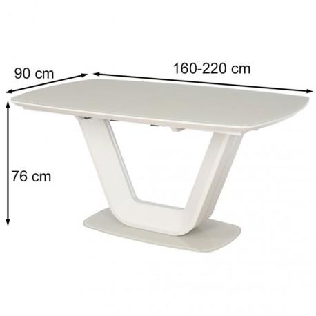 thumb Стол обеденный Armani 160(220)х90 Крем 4