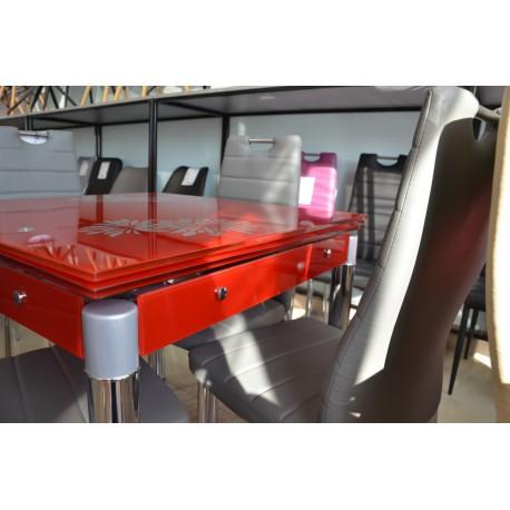 thumb Стол обеденный GD-082 80(131)x80 Красный 5