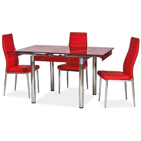 thumb Стол обеденный GD-082 80(131)x80 Красный 2