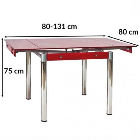 thumb Стол обеденный GD-082 80(131)x80 Красный 3