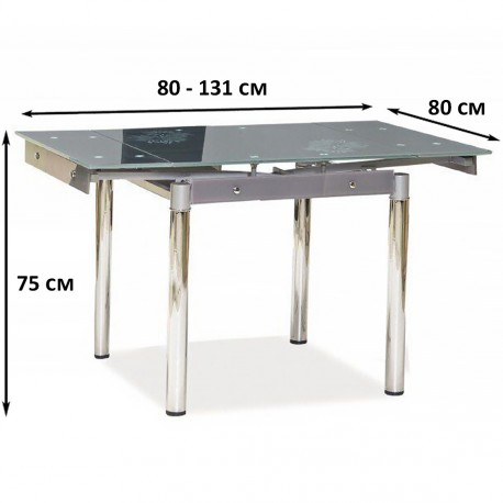 thumb Стол обеденный GD-082 80(131)x80 Серый 4