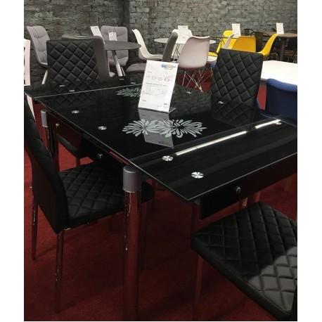 thumb Стол обеденный GD-082 80(131)x80 Черный 4