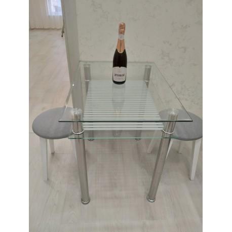 thumb Стол обеденный Pixel 80х60 Прозрачный 2