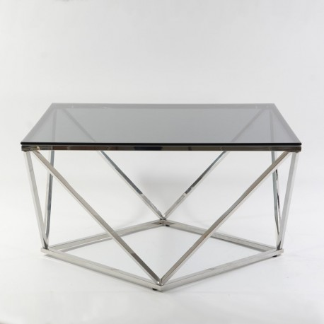 thumb Журнальный стол Silver A Silver A 80х80 Дымчатый/Серебряный 6